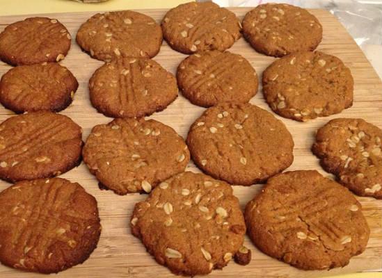Peanut Butter Oats Cookies