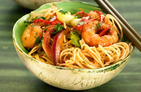 rice noodles prawns - Prawn and Lime Noodles