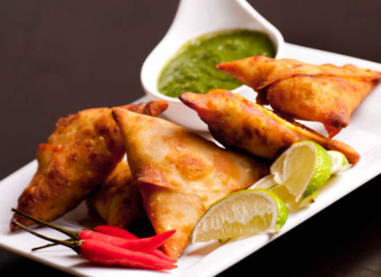 Samosas with Chutney