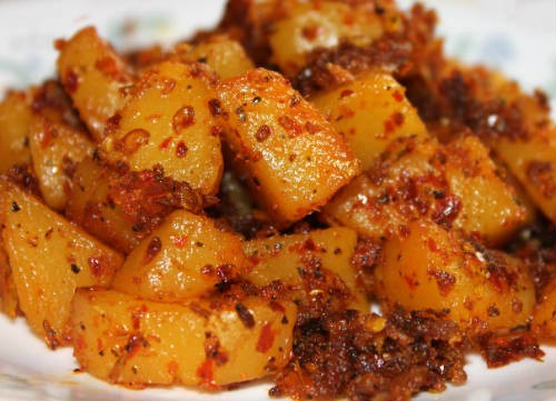 spicy potato fry - Spicy Potato Fry