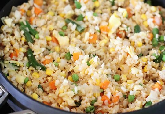vegetable fried rice egg - Vegetable Fried Rice with Egg