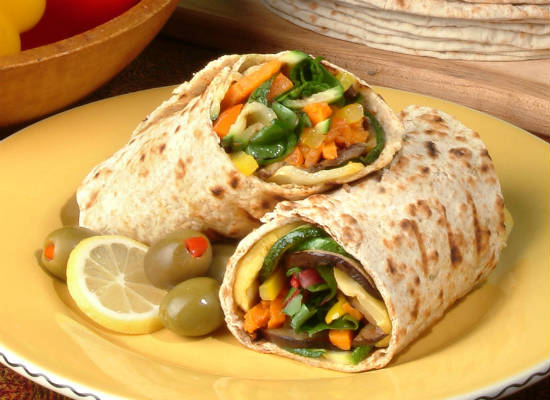 vegetable wrap - Spicy Vegetable Wrap