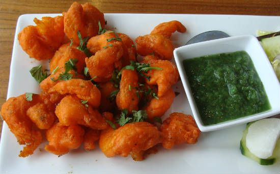 chingri shrimp pakora - Chingri (Shrimp) Pakora