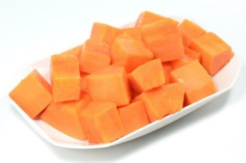 chopped papaya - Oats Papaya Smoothie