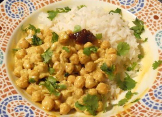 coconut chickpeas curry - Coconut Chickpeas Curry