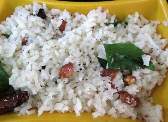 coconut rice - 25 Popular Navratri Vrat and Durga Puja Recipes