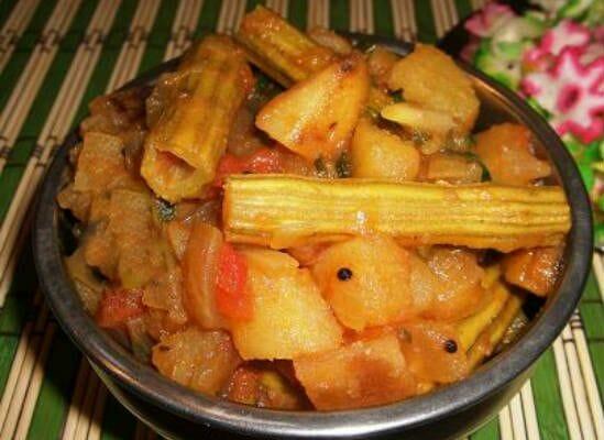 drumstick potato peas masala - Drumstick Potato Peas Masala