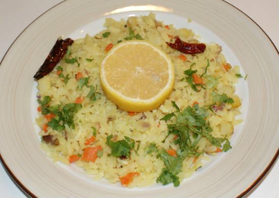 Lemon Poha (Lemon Aval)