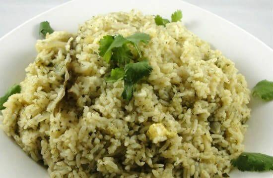 paneer pudina rice - Paneer Mint Rice