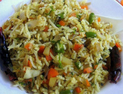 singapore vegetable fried rice - Singapore Vegetable Fried Rice
