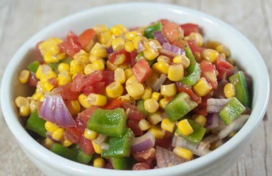 sweet corn capsicum salad - Sweet Corn Capsicum Salad