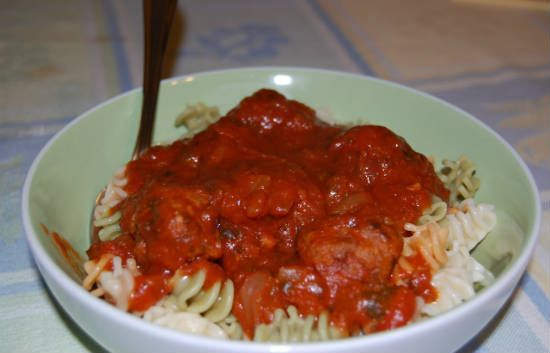 Meatless Meatballs with Pasta