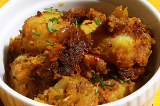 potato masala - Chettinad style Potato Masala