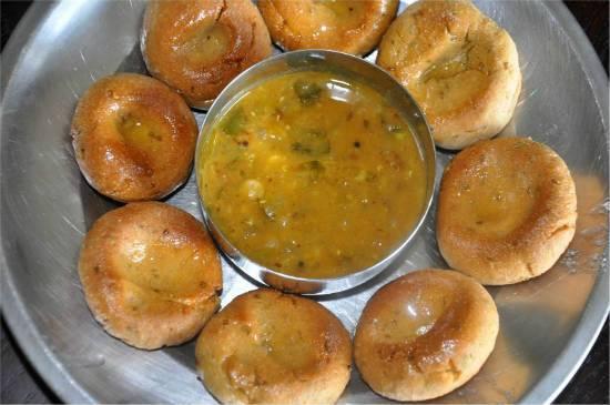 rajasthani bati with dal - Rajasthani Bati