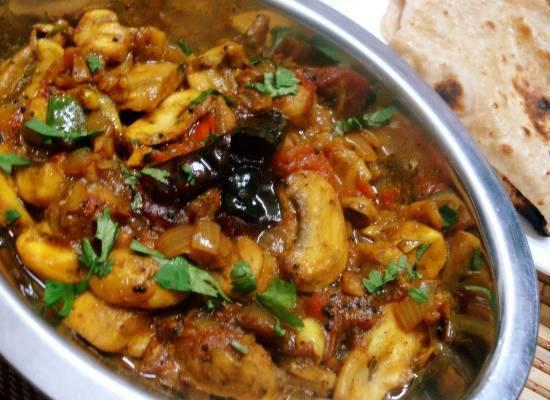 Chettinad Mushroom Masala