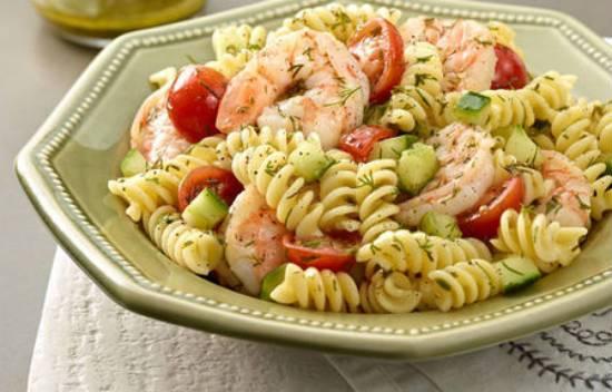 pasta salad prawns - Creamy Prawn and Pasta Salad