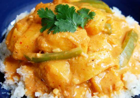 thai coconut curry - Thai Coconut Curry with Chickpeas