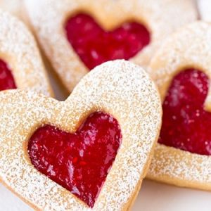 Heart Shaped Cinnamon Cookies