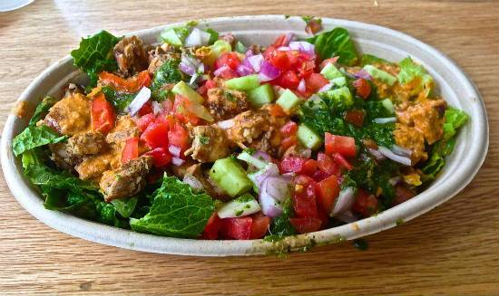 Warm Chicken Tikka Salad