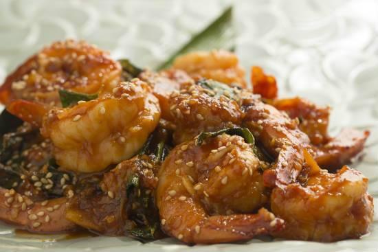 chilli sesame prawns - Chilli Sesame Prawns