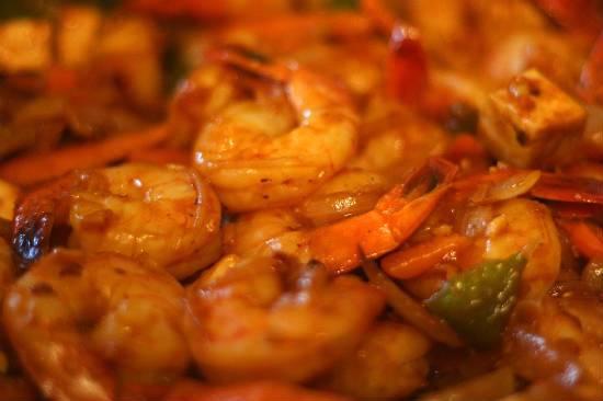 Spicy Sichuan Prawns