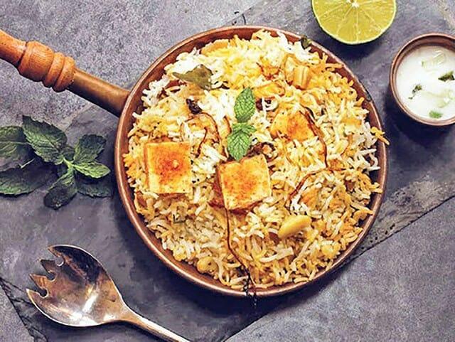 tofu briyani
