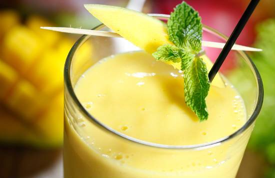 Mango and Cucumber Lassi