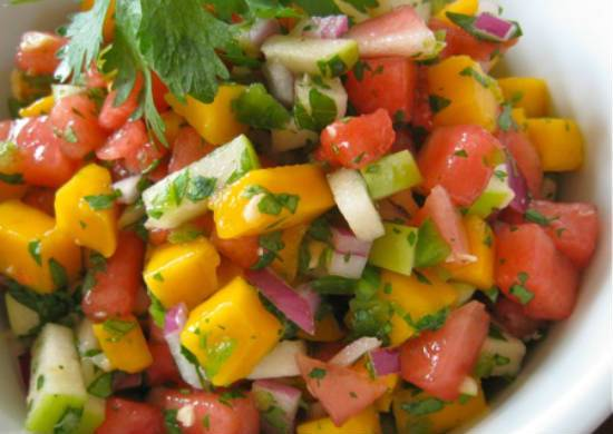watermelon mango salsa - Watermelon and Mango Salsa