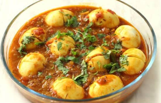 andhra egg curry - Andhra Egg Curry (Kodi Guddu Pulusu)