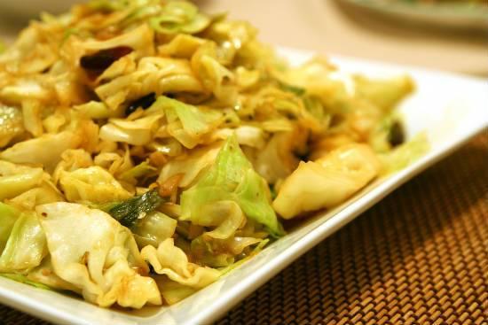cabbage stir fry - Bengali Cabbage Stir Fry