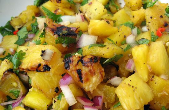 grilled oineapple salsa - Grilled Pineapple Salsa