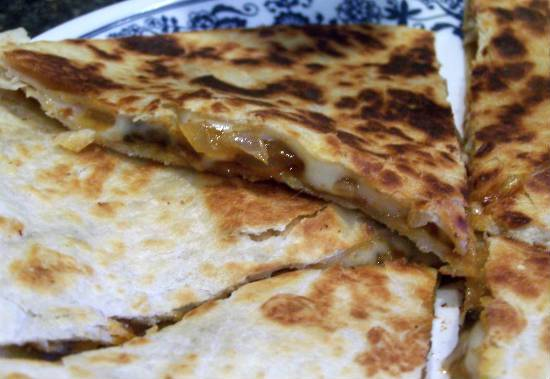 onion mushroom quesadillas - Onion and Mushroom Quesadillas