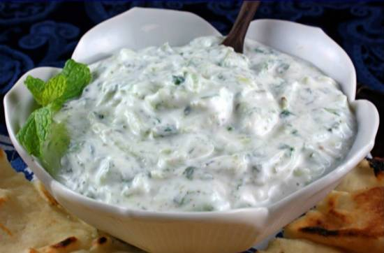 Cucumber Lemon Raita