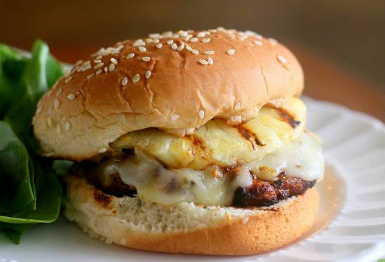 grilled chicken and pineapple burger - Grilled Chicken and Pineapple Burger