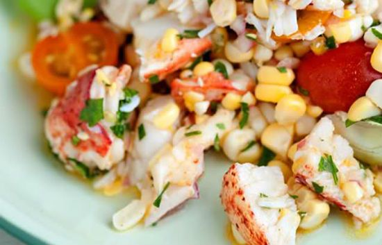 lobster corn salad - Lobster Corn Salad