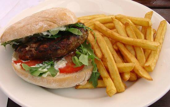 Mediterranean style Lamb Burgers