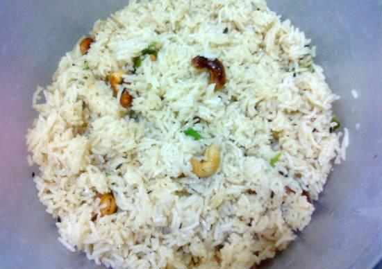 cashew pulao - Cashew Pulao (Kaju Pulao)