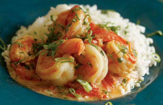 Shrimps with Tomato and Coconut Milk