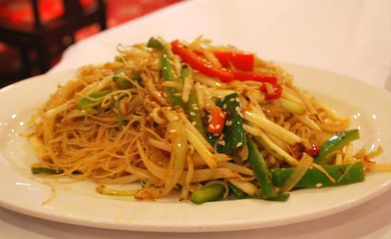 vegetarian singapore noodles - Veg Singapore Noodles