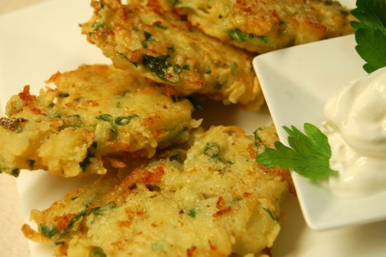 Knol Khol Fritters (Kohlrabi Tikki)