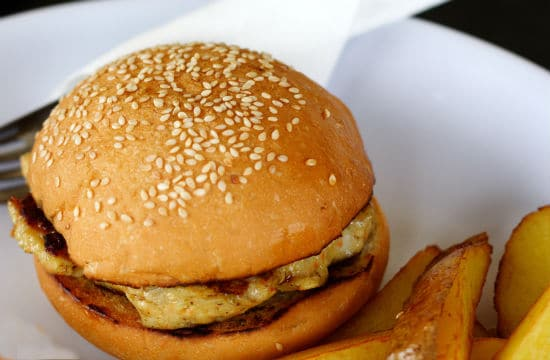 grilled chicken burger - Grilled Chicken Burger