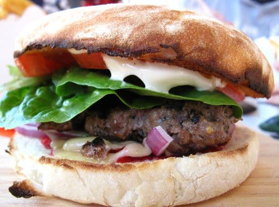 Moroccan Lamb Burger