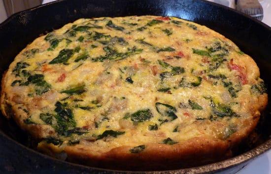 spinach frittata - Spinach Frittata
