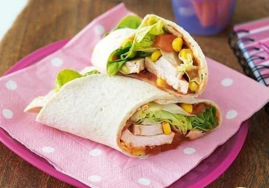 Chicken and Salsa Wrap