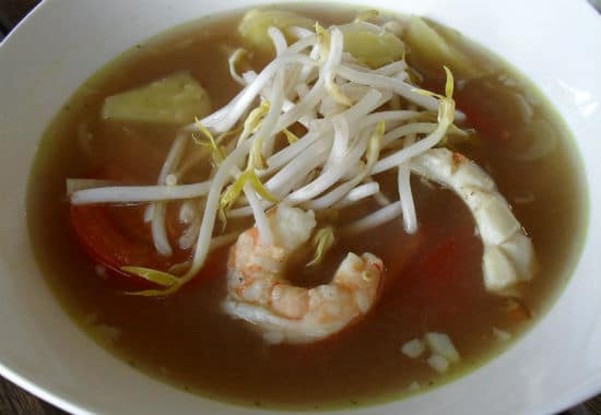 Pineapple Seafood Soup