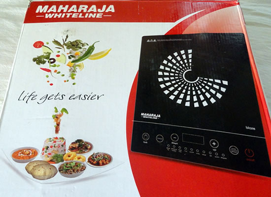 maharaja whiteline blaze cooktop with box - Maharaja Whiteline Blaze Induction Cooktop Review