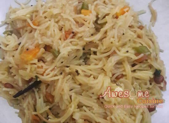 Vegetable Semiya Pulao