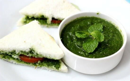 mint chutney sandwich - Mint Chutney Sandwich
