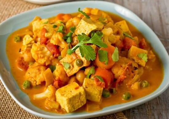 cauliflower tofu curry - Cauliflower Tofu Curry
