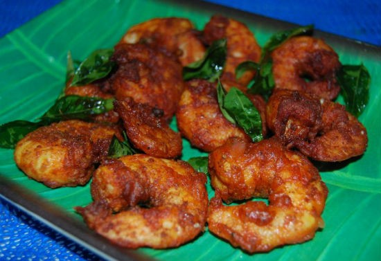 eral varuval - Eral Varuval (South Indian Prawn Fry)